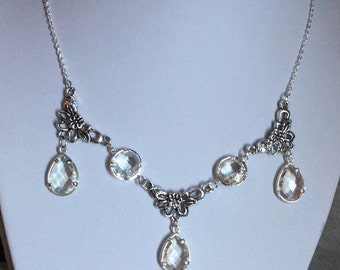 Crystal Pendant Necklace, fantasy jewelry, Mother's Day gift, Bridal Jewelry