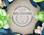 100 custom one-color Save the Date coasters