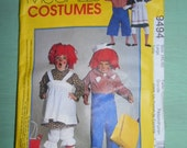 McCall's Costumes Raggedy Ann and Andy Size Large Talla (40,42) Never Used Number 9494