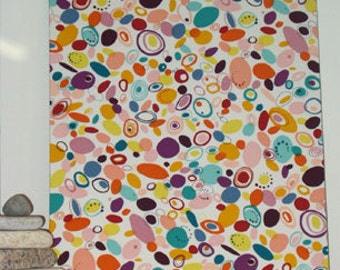 "Sale! Fabric Wall Hanging of Geometric Modern Designer Fabric 24"" x 19.5"" x 1 1/2"" deep"