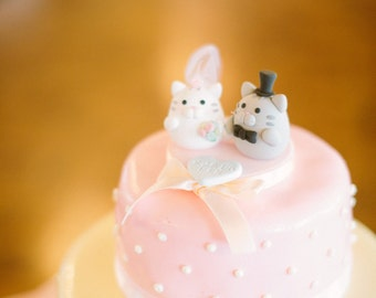 cat and kitty Wedding Cake Topper---k881