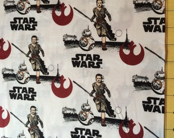 Star Wars The Force Awakens Ray and BB 8 Fabric By The Yard
