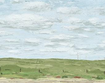 Original Oil Landscape Painting by Paige Smith-Wyatt Wall Art, modern, 12 x 24