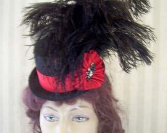 Steampunk Mini Top Hat  Alice in Wonderland Mini Top Hat Halloween Hat Ring Master Hat Ringleader Hat