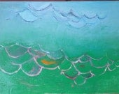 Green Sea, Original painting on canvas