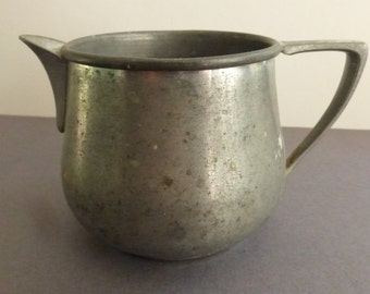 Rescued Vintage National Silver Company Pewter Creamer