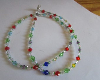 crystal raindbow necklace add your own pendent