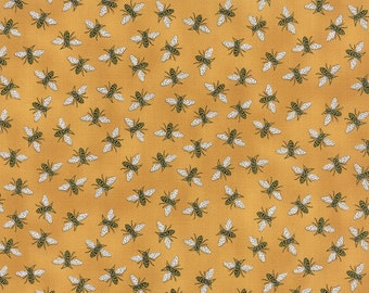 Bee Creative Gold Honey Bees 19756 12 | Deb Strain Designer | Moda Quilting fabric Last piece