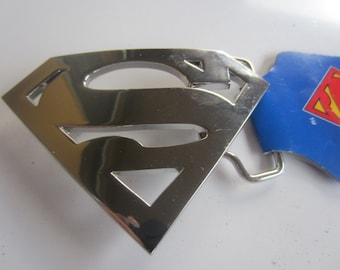 NEW DC Comics Superman / Supergirl silver belt buckle (super hero 6) Salesman sample