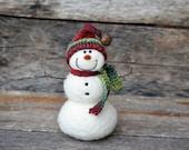 Needle Felted Snowman | felted wool snowmen  767