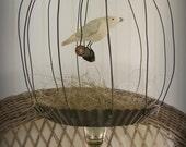 Handmade Wire Bird Cage Hand Sculpted Birdcage Vintage Bird Cage Vintage Mixed Media Bird Vintage Rustic Birdcage Bird Nest Vintage Nature