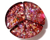 Faux Fire Opal Cabachons Reclaimed Recycled Geometric Shapes Circular Triangles Resin Desert Reds Acrylic Phone Case Decor Decoden  A2