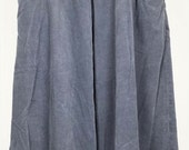 ON SALE Gray Corduroy Midi Skirt 10 S M 1980s