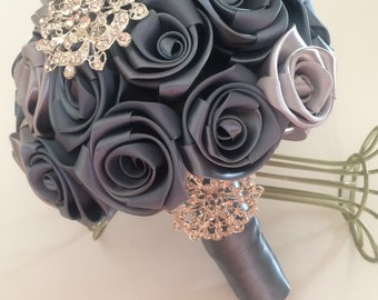 Vintage Wedding Bouquet in beautiful satin roses