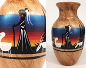 VTG. N Begaye Diné. native american signed authentic hopi/navajo ceramic vase. FOUNDbyLB