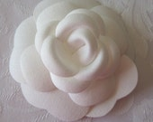 Coco Chanel Camellia Flower, Authentic Coco Chanel, Chanel Fabric Flower 3 inches 1 Each