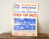 "1973' ""Stock Car Races"" Official Program"