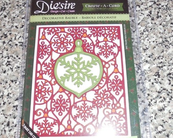 Crafter's Companion-Die'sire Create A Card Cutting & Embossing Die. Decorative Bauble