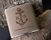 Flask | Customizable ANCHOR design, multiple quantities for groomsman gift