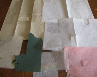 Handmade Mulberry Paper for rubber stamping, gift wrap and artwork from Personal Stamp Exchange FREE Shipping