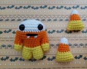 Candy Corn Stripe Monster Toy