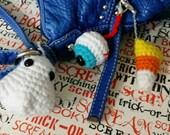 Ghost, Eyeball, or Candy Corn Bag Charm