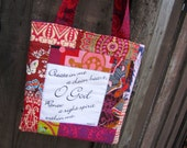 Clean Heart Scripture Tote Bag Bible Bag ready to ship