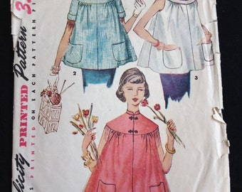 """Vintage 50s Maternity Jacket\Top Size 14, bust 32"""" Simplicity 4718 Printed Pattern"""