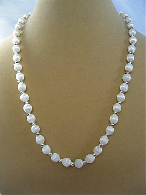 vintage silk bead necklace
