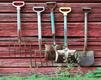 Farm Tools 10ft x 10ft Backdrop Computer Printed Photography Background S-1373