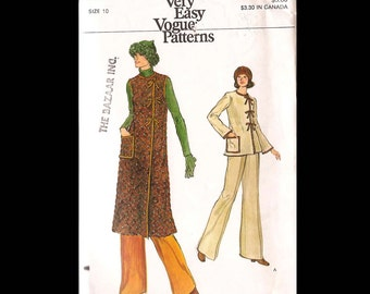 Very Easy Vogue Misses Dress, Top and Pants Pattern 9299 UNCUT