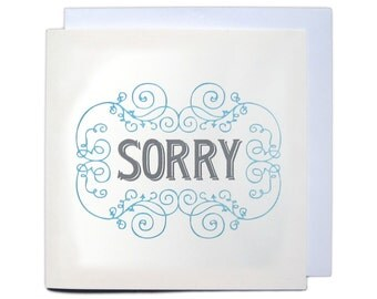 Letterpress Typeset Greetings Card - Sorry