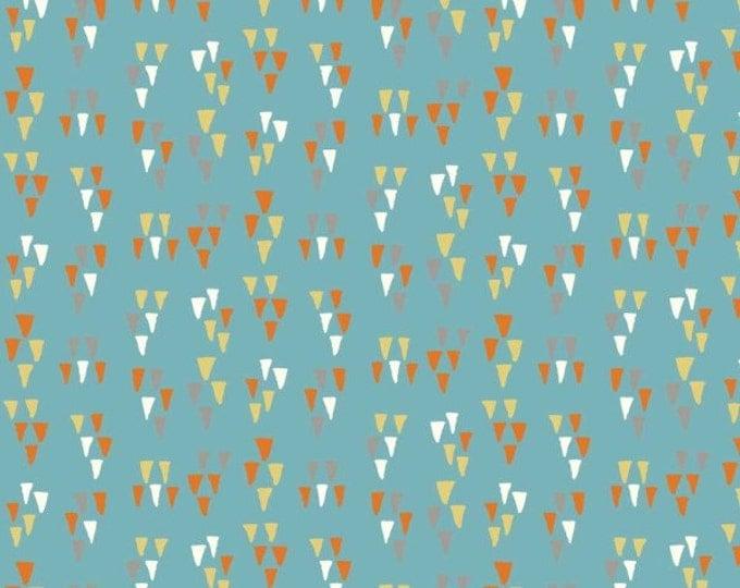 Wildland - Arrowhead in Turquoise by Miriam Bos for Birch Fabrics - Double Gauze Organic Cotton Fabric