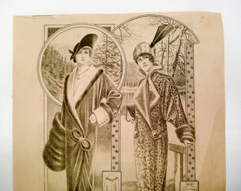 FOUND IN SPAIN - 1910s fashion and embroidery ephemera