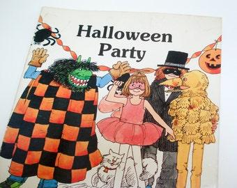 Vintage children's book - Halloween Party - 1985