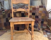 Vintage Farmhouse Barewood Kitchen Chair