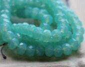 ANNA .. 30 Premium Fire Polished Czech Glass Rondelle Beads 3x5mm (4750-st)
