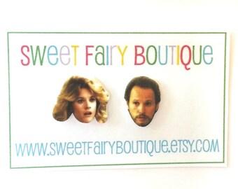 When Harry Met Sally - Meg Ryan and Billy Crystal - stud earrings