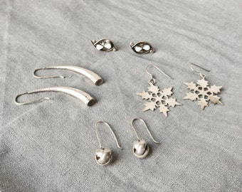 5 Pairs Sterling Silver Earrings