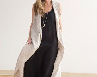 Linen Maxi Vest