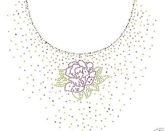 Rhinestone Rose Floral New Women's Short Sleeve Tee Shirt Sizes Small thru 3X-Large FREE SHIPPING Plus Sizes Too! Spring Flower Easter