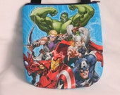 Upcycled Superheros Avengers Purse