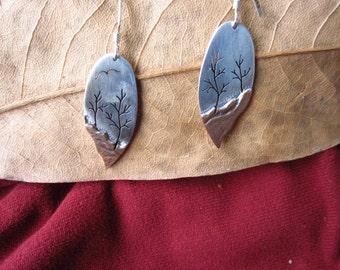 Landscape Tree  Earrings