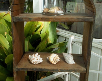 Antique Primative Arch Shelf Display Wood Table Top Wall Display Home Decor Interior Design Shabby Chic Style
