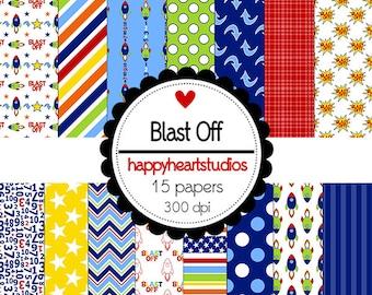 DigitalScrapbook-BlastOff-INSTANTDOWNLOAD