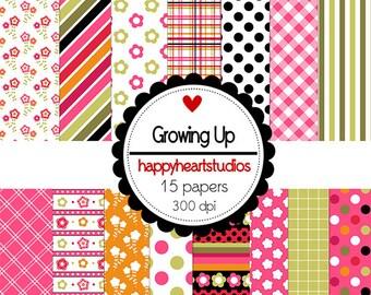 DigitalScrapbooking- Growing Up-INSTANTDOWNLOAD