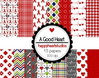 Digital Scrapbook  AGoodHeart-INSTANT DOWNLOAD