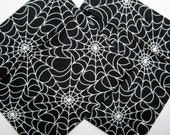 Lined Sandwich bag--Glow-in-the-Dark Spiderwebs