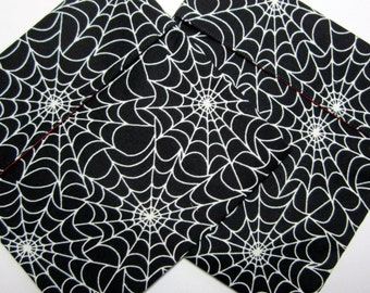 Lined Sandwich bag--Glow-in-the-Dark Spiderwebs