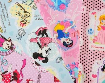 Disney fabric Disney Princess  and Minnie mouse 2016A